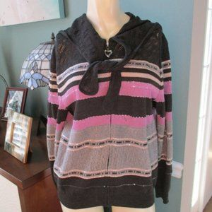 St John Collection Hooded Sweater 8 not perfect